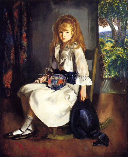 GEORGE WESLEY BELLOWS ANNE IN WHITE ARTIST PAINTING REPRODUCTION HANDMADE OIL