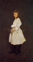 GEORGE WESLEY BELLOWS LITTLE GIRL IN WHITE AKA QUEENIE BARNETT PAINTING HANDMADE