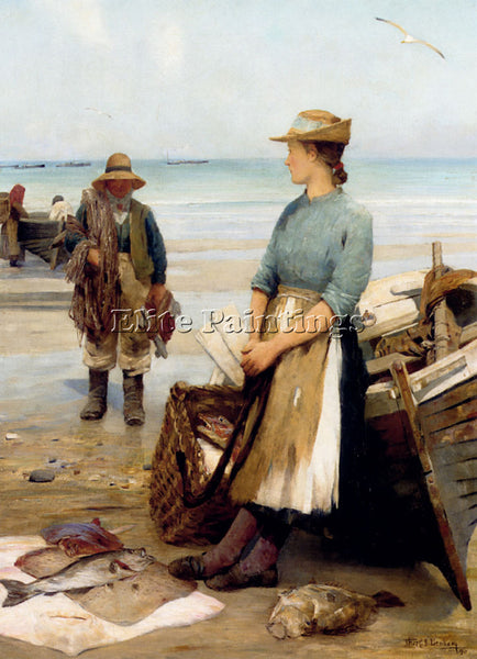 AMERICAN BENHAM THOMAS C S THE DAYS CATCH ARTIST PAINTING REPRODUCTION HANDMADE