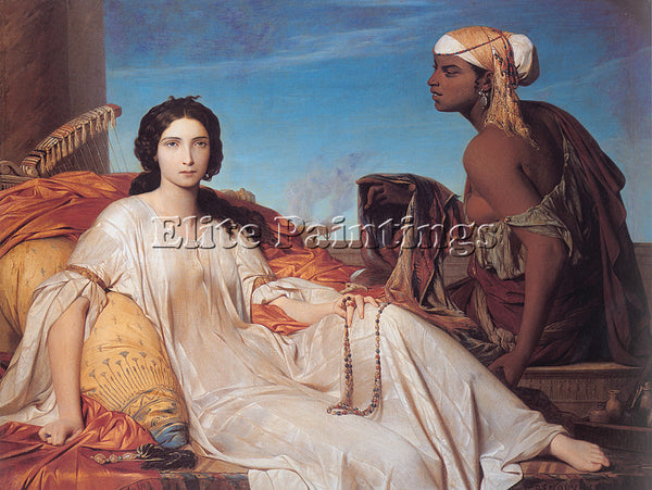 FRENCH BENOUVILLE FRANCOIS LEON ESTHER ARTIST PAINTING REPRODUCTION HANDMADE OIL