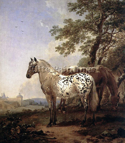NICOLAES BERCHEM HORSES ARTIST PAINTING REPRODUCTION HANDMADE CANVAS REPRO WALL