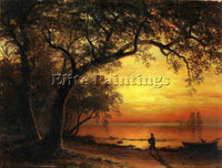 ALBERT BIERSTADT ISLAND OF NEW PROVIDENCE ARTIST PAINTING REPRODUCTION HANDMADE