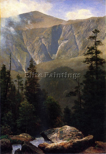 ALBERT BIERSTADT MOUNTAINOUS LANDSCAPE ARTIST PAINTING REPRODUCTION HANDMADE OIL