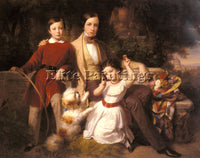 AUSTRIAN BLAAS CARL VON GROUP PORTRAIT WITH THE PRINCE VALMONTONE ARTIST CANVAS
