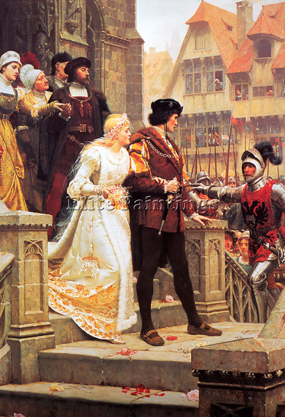 EDMUND BLAIR LEIGHTON CALL TO ARMS ARTIST PAINTING REPRODUCTION HANDMADE OIL ART