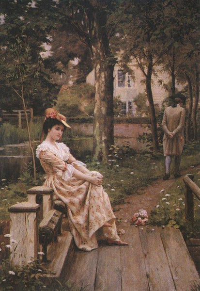 EDMUND BLAIR LEIGHTON OFF ARTIST PAINTING REPRODUCTION HANDMADE OIL CANVAS REPRO