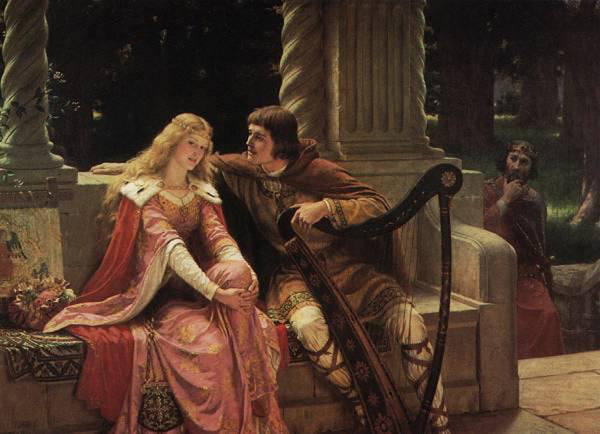 EDMUND BLAIR LEIGHTON TRISTAN AND ISOLDE ARTIST PAINTING REPRODUCTION HANDMADE