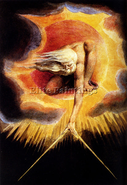 WILLIAM BLAKE THE OMNIPOTENT ARTIST PAINTING REPRODUCTION HANDMADE CANVAS REPRO