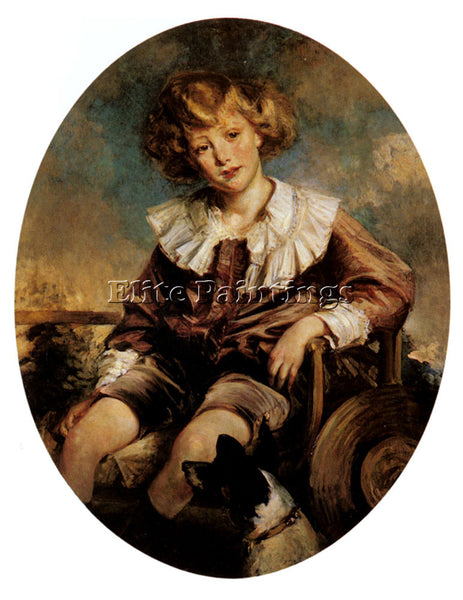 JACQUES EMILE BLANCHE PORTRAIT OF ANTONIN DE MUN AS A YOUNG BOY ARTIST PAINTING