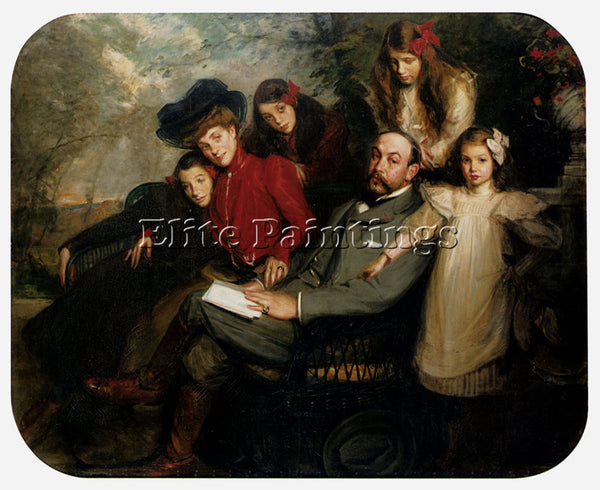 JACQUES EMILE BLANCHE THE POET FRANCIS VIELE GRIFFIN AND HIS FAMILY PAINTING OIL