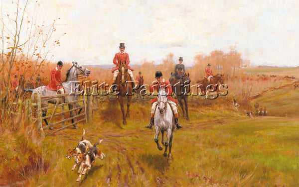 BRITISH BLINKS THOMAS OVER THE FENCE ARTIST PAINTING REPRODUCTION HANDMADE OIL