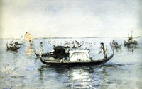 AMERICAN BLUM ROBERT FREDERICK ON THE LAGOON VENICE ARTIST PAINTING REPRODUCTION - Oil Paintings Gallery Repro