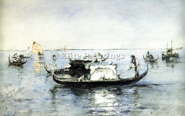 AMERICAN BLUM ROBERT FREDERICK ON THE LAGOON VENICE ARTIST PAINTING REPRODUCTION