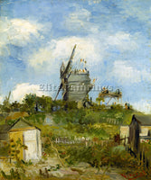 VAN GOGH BLUT FIN WINDMILL ARTIST PAINTING REPRODUCTION HANDMADE OIL CANVAS DECO