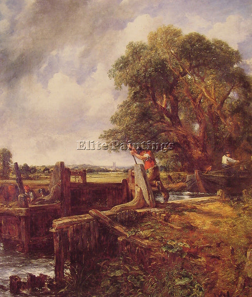 JOHN CONSTABLE BOAT PASSING A LOCK ARTIST PAINTING REPRODUCTION HANDMADE OIL ART