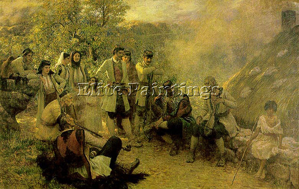 CROATIAN BOKOVAC VLACHO GUSLAR V ARTIST PAINTING REPRODUCTION HANDMADE OIL REPRO
