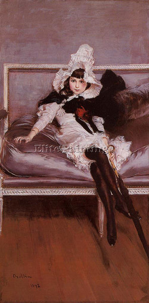 GIOVANNI BOLDINI PORTRAIT OF GIOVINETTA ERRAZURIZ ARTIST PAINTING REPRODUCTION