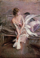GIOVANNI BOLDINI PORTRAIT OF GLADYS DEACON ARTIST PAINTING REPRODUCTION HANDMADE