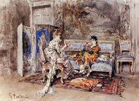 GIOVANNI BOLDINI THE CONVERSATION ARTIST PAINTING REPRODUCTION HANDMADE OIL DECO