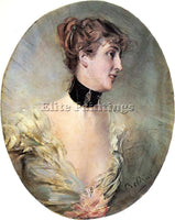 GIOVANNI BOLDINI THE COUNTESS RITZER ARTIST PAINTING REPRODUCTION HANDMADE OIL