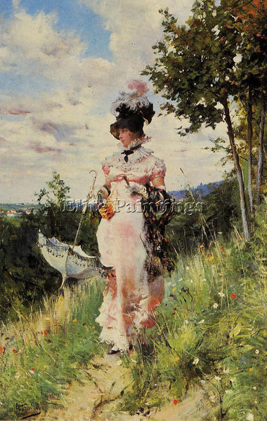 GIOVANNI BOLDINI THE SUMMER STROLL ARTIST PAINTING REPRODUCTION HANDMADE OIL ART