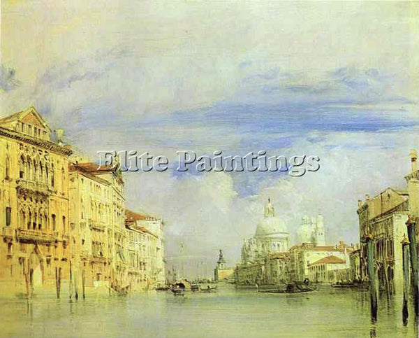 RICHARD PARKES BONINGTON PARKES VENICE THE GRAND CANAL ARTIST PAINTING HANDMADE