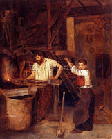 FRENCH BONVIN FRANCOIS SAINT THE BLACKSMITHS SHOP ARTIST PAINTING REPRODUCTION