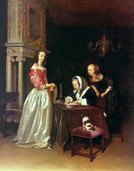 GERARD TER BORCH BORCH14 ARTIST PAINTING REPRODUCTION HANDMADE CANVAS REPRO WALL
