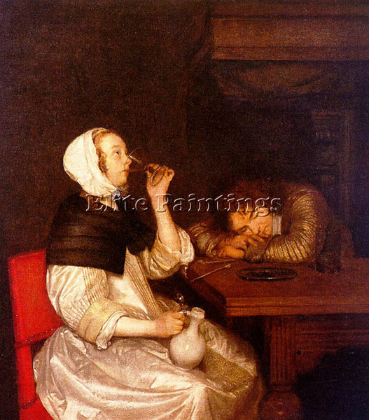 GERARD TER BORCH BORCH15 ARTIST PAINTING REPRODUCTION HANDMADE CANVAS REPRO WALL