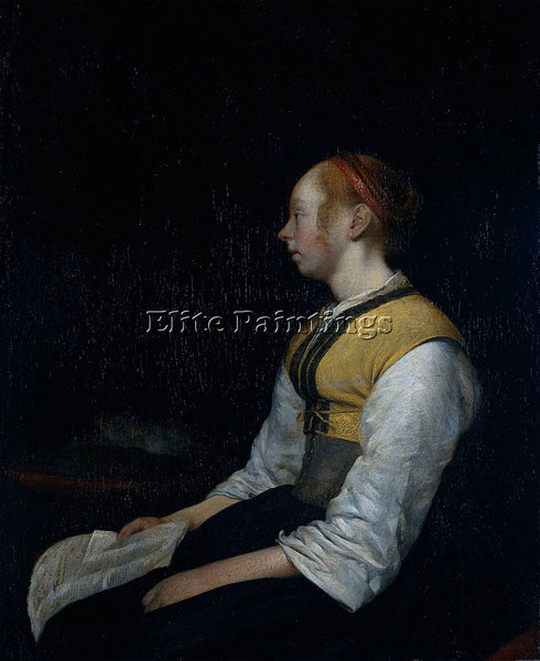 BORCH  II GIRL IN PEASANT COSTUME PROBABLY GESINA PAINTER S HALF SISTER PAINTING