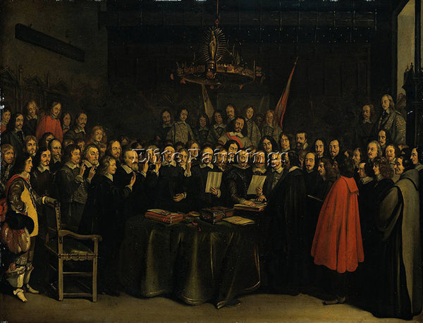 GERARD TER BORCH  II THE RATIFICATION TREATY OF MUNSTER 15 MAY 1648 PAINTING OIL