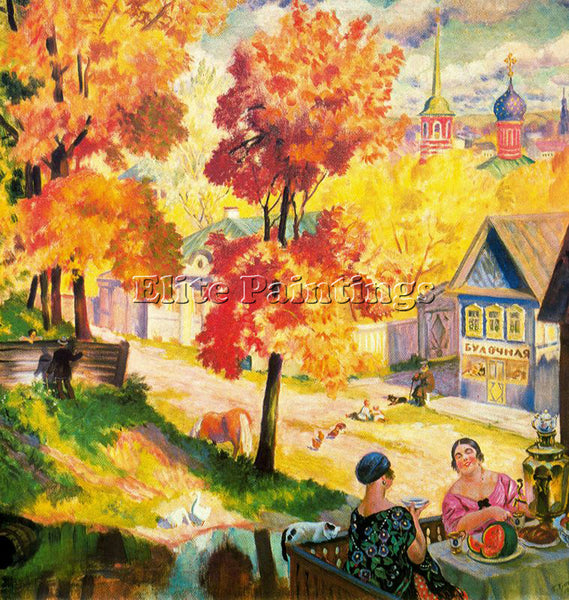BORIS KUSTODIEV KUSTO111 ARTIST PAINTING REPRODUCTION HANDMADE CANVAS REPRO WALL