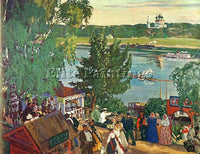 BORIS KUSTODIEV KUSTO57 ARTIST PAINTING REPRODUCTION HANDMADE CANVAS REPRO WALL
