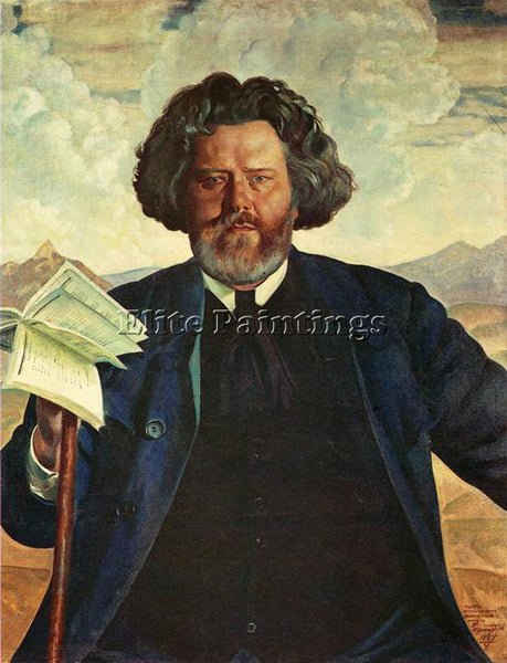 BORIS KUSTODIEV KUSTO77 ARTIST PAINTING REPRODUCTION HANDMADE CANVAS REPRO WALL
