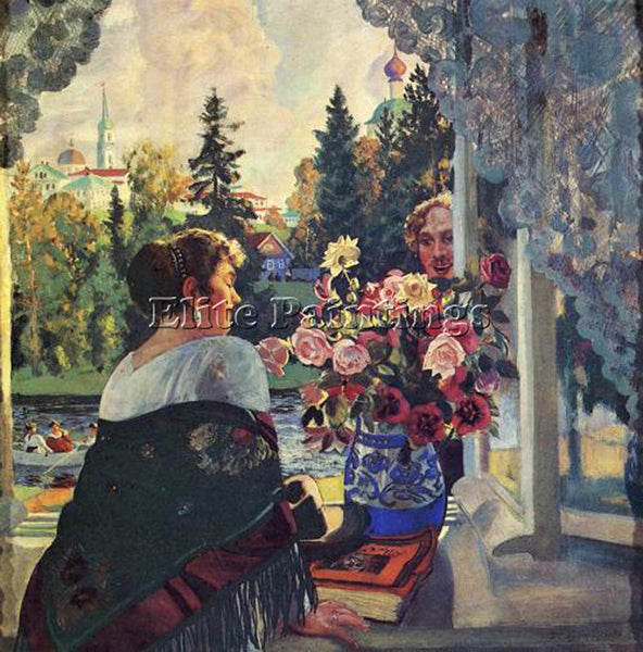 BORIS KUSTODIEV KUSTO78 ARTIST PAINTING REPRODUCTION HANDMADE CANVAS REPRO WALL