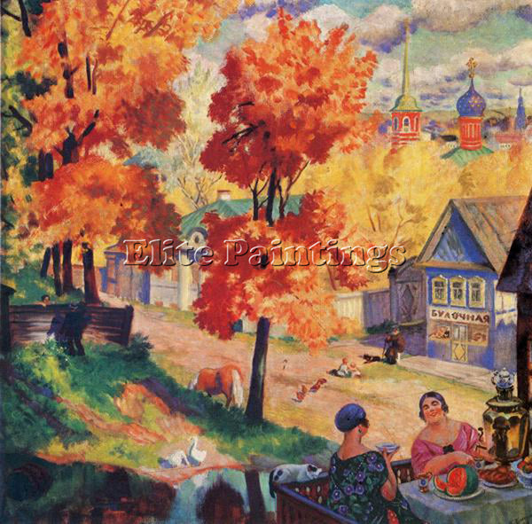 BORIS KUSTODIEV KUSTO79 ARTIST PAINTING REPRODUCTION HANDMADE CANVAS REPRO WALL