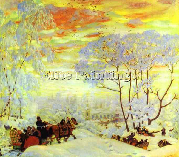 BORIS KUSTODIEV KUSTO81 ARTIST PAINTING REPRODUCTION HANDMADE CANVAS REPRO WALL