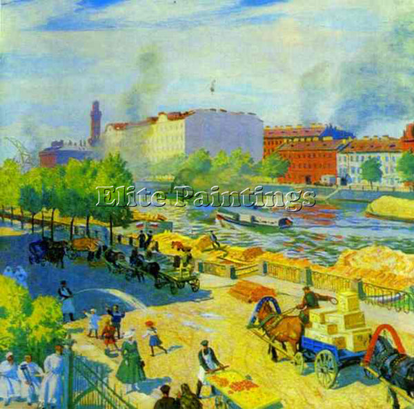 BORIS KUSTODIEV KUSTO85 ARTIST PAINTING REPRODUCTION HANDMADE CANVAS REPRO WALL