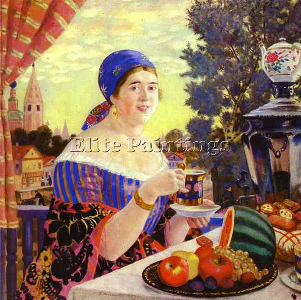 BORIS KUSTODIEV KUSTO87 ARTIST PAINTING REPRODUCTION HANDMADE CANVAS REPRO WALL
