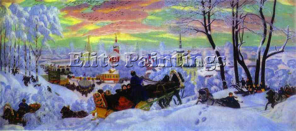 BORIS KUSTODIEV KUSTO95 ARTIST PAINTING REPRODUCTION HANDMADE CANVAS REPRO WALL
