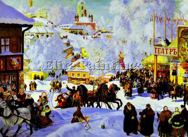 BORIS KUSTODIEV KUSTO97 ARTIST PAINTING REPRODUCTION HANDMADE CANVAS REPRO WALL
