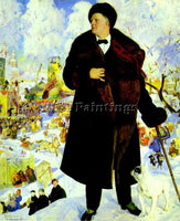 BORIS KUSTODIEV KUSTO98 ARTIST PAINTING REPRODUCTION HANDMADE CANVAS REPRO WALL