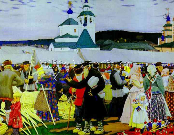 BORIS KUSTODIEV KUSTO99 ARTIST PAINTING REPRODUCTION HANDMADE CANVAS REPRO WALL