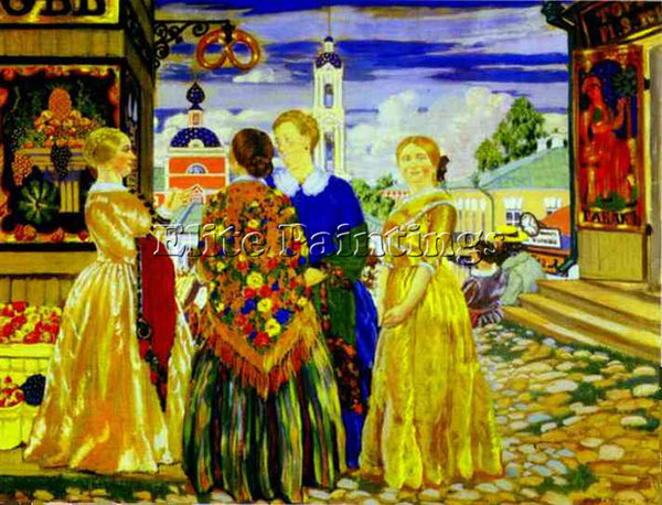 BORIS KUSTODIEV KUSTO100 ARTIST PAINTING REPRODUCTION HANDMADE CANVAS REPRO WALL