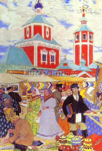 BORIS KUSTODIEV KUSTO107 ARTIST PAINTING REPRODUCTION HANDMADE CANVAS REPRO WALL