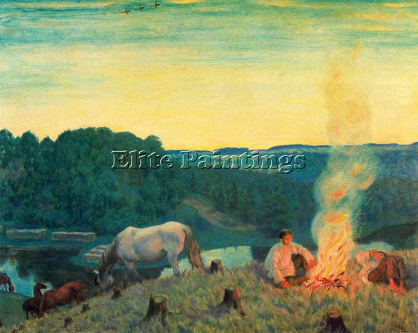 BORIS KUSTODIEV KUSTO116 ARTIST PAINTING REPRODUCTION HANDMADE CANVAS REPRO WALL