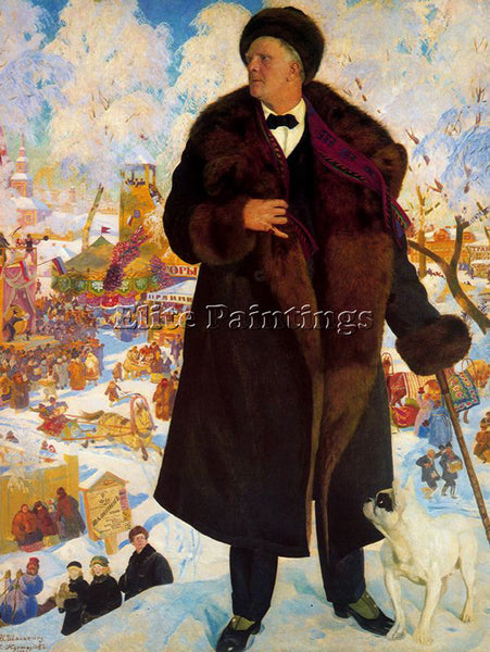 BORIS KUSTODIEV KUSTO118 ARTIST PAINTING REPRODUCTION HANDMADE CANVAS REPRO WALL