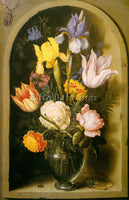 DENMARK BOSSCHAERT AMBROSIUS 19FLOWERS ARTIST PAINTING REPRODUCTION HANDMADE OIL