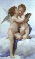 FRENCH BOUGUEREAU LAMOUR ET PSYCHE ENFANTS ARTIST PAINTING REPRODUCTION HANDMADE