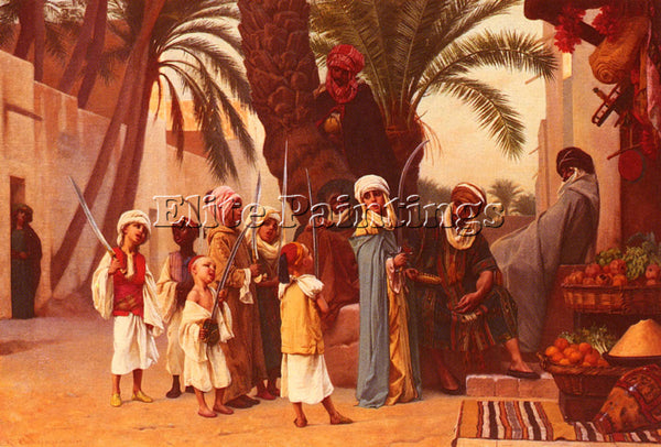 GUSTAVE CLARENCE RODOLPHE BOULANGER A TALE OF 1001 NIGHTS ARTIST PAINTING CANVAS